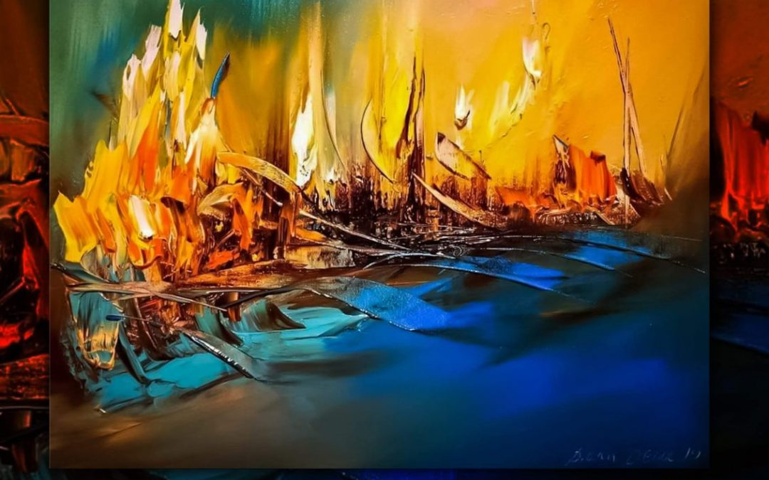 "Изложба живопис ""Млад огън"" 30.09.2020г."